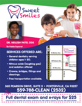 Full dental exam and x-rays for $25 San Pablo Dentist smiling