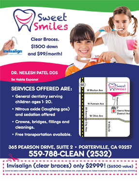 exam and x-ray and invisalign tx for $2999 San Pablo Dentist smiling
