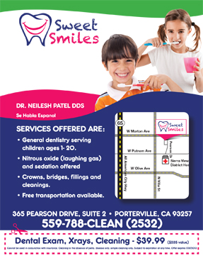 exam and x-ray and cleaning for $39.99 San Pablo Dentist smiling