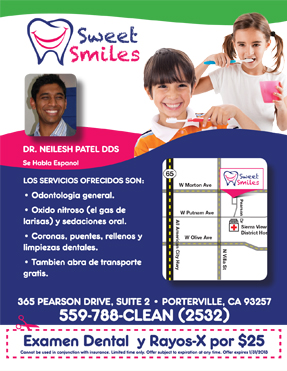 exam and x-ray for $25 San Pablo Dentist smiling